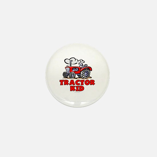 Red Tractor Kid Mini Button