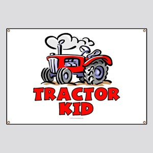 Red Tractor Kid Banner