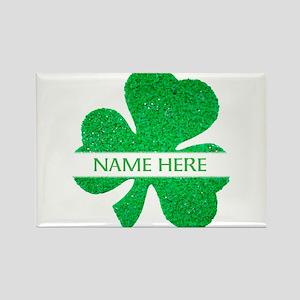 Custom Name Shamrock s Magnets