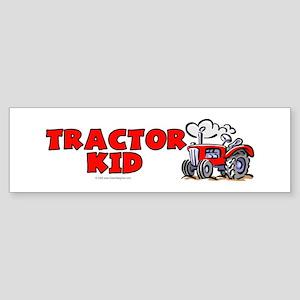 Red Tractor Kid Bumper Sticker