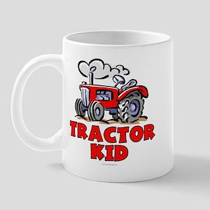 Red Tractor Kid Mug