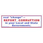 Report Corruption (Bumper Sticker)