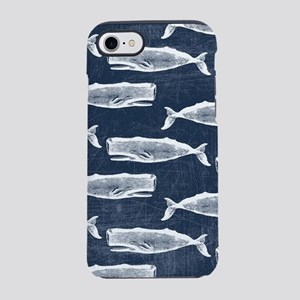 Vintage Whale Pattern White iPhone 7 Tough Case