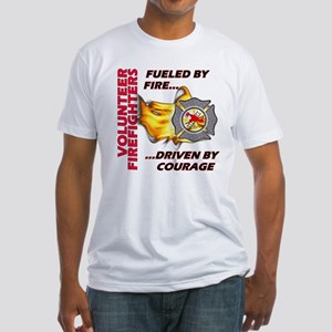 Firefighters Courage Fitted T-Shirt