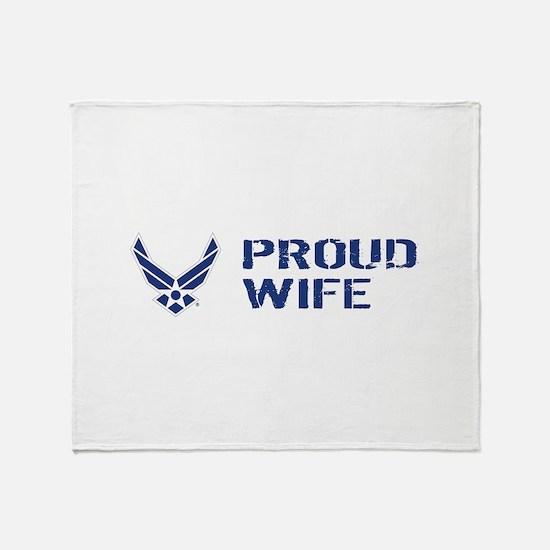 USAF: Proud Wife Throw Blanket