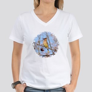 Cedar Waxwing Women's V-Neck T-Shirt