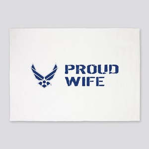 USAF: Proud Wife 5'x7'Area Rug