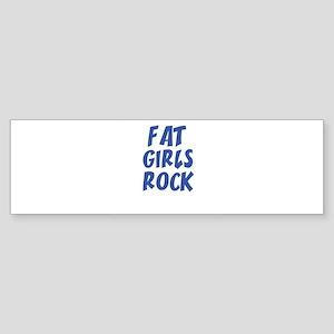 FAT GIRLS ROCK Bumper Sticker