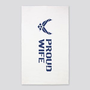 USAF: Proud Wife Area Rug