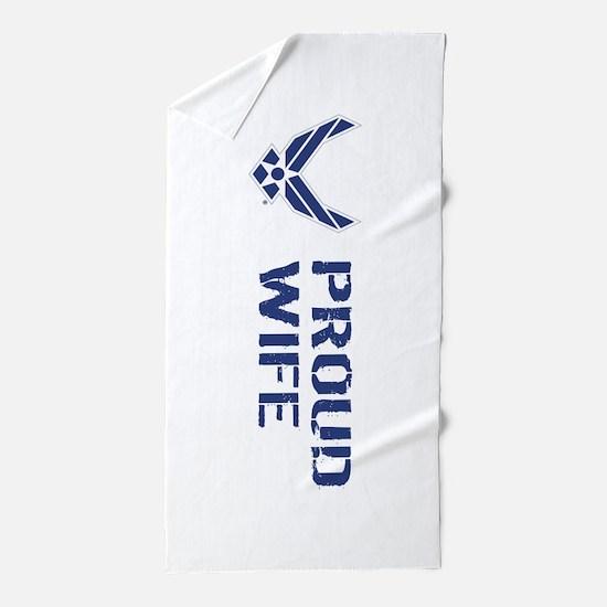 USAF: Proud Wife Beach Towel