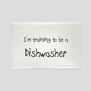 I'm training to be a Dishwasher Rectangle Magnet