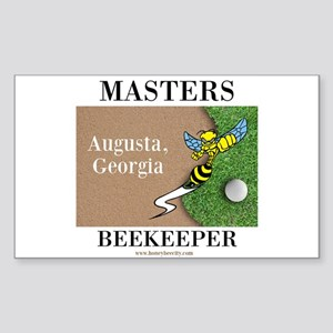 Masters Beekeeper Sticker (Rectangle)