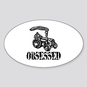 Tractor Obsessed Oval Sticker