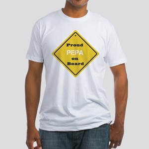 Proud Pepa on Board Fitted T-Shirt