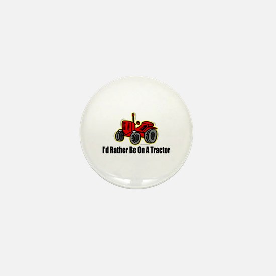 Funny Tractor Mini Button