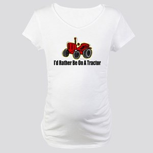 Funny Tractor Maternity T-Shirt
