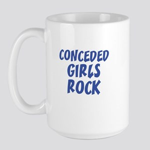CONCEDED GIRLS ROCK Large Mug