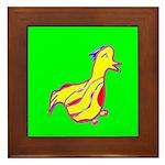 Duck Framed Tile (Yellow & Green)