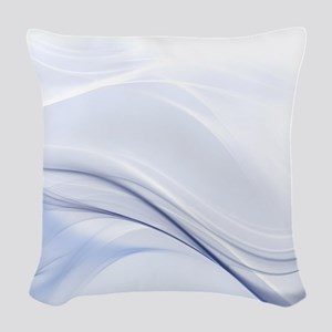 Abstract Water Waves Woven Throw Pillow