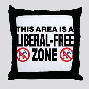 This Area Is A Liberal-Free Zone Throw Pillow