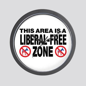 This Area Is A Liberal-Free Zone Wall Clock