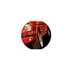 Red Mustang Mini Button