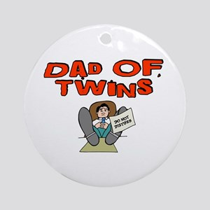 Dad Of Twins Ornament (Round)