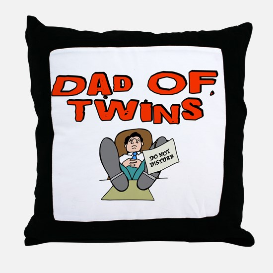 Dad Of Twins Throw Pillow
