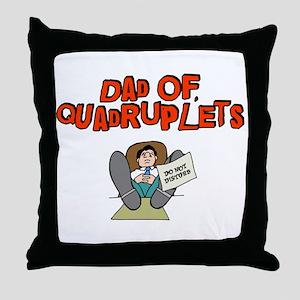 Dad Of Quadruplets Throw Pillow