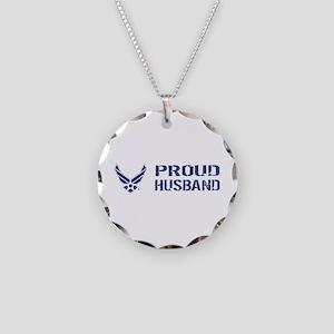 USAF: Proud Husband Necklace Circle Charm