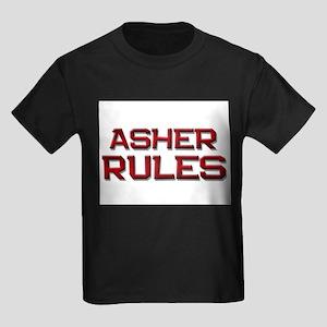 asher rules Kids Dark T-Shirt