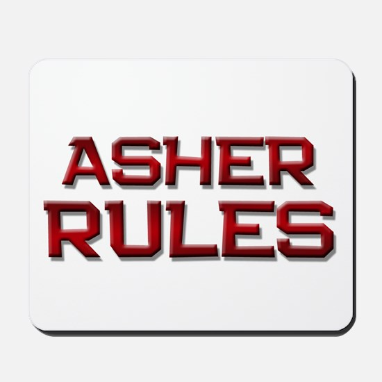 asher rules Mousepad