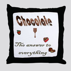 Chocolate, answer to everythi Throw Pillow