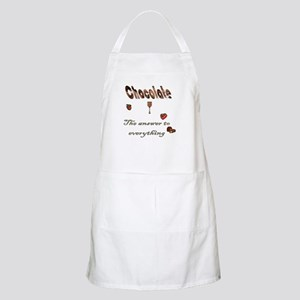 Chocolate, answer to everythi BBQ Apron