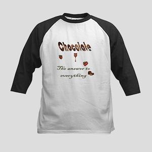 Chocolate, answer to everythi Kids Baseball Jersey