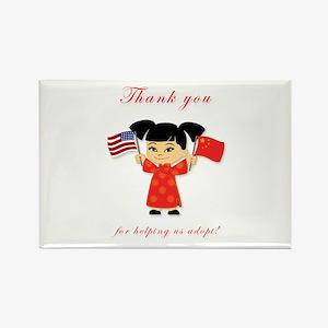 Thank You Adoption China Rectangle Magnet (10