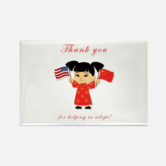 Thank You Adoption China Rectangle Magnet (10