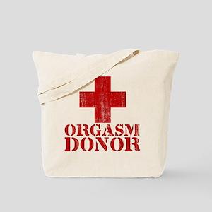 orgasm donor Tote Bag