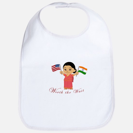 Worth the Wait Adoption India Bib