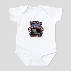 America Truck Driver Infant Bodysuit