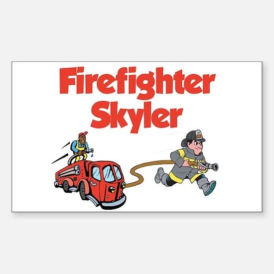 Firefighter Skyler Rectangle Decal