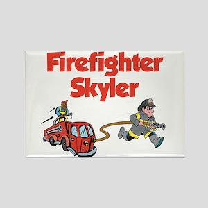 Firefighter Skyler Rectangle Magnet