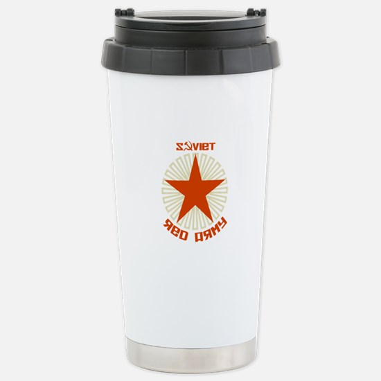 Soviet Red Army Star Stainless Steel Travel Mug
