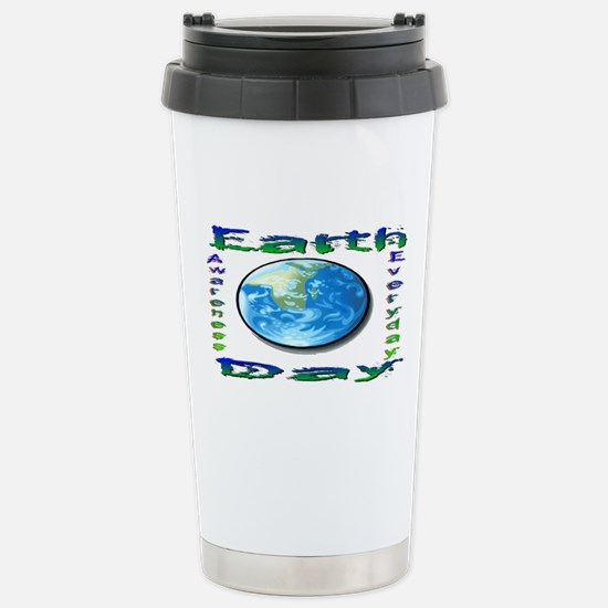 Earth Day 6 Stainless Steel Travel Mug