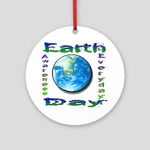 Earth Day 6 Ornament (Round)