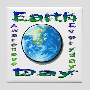 Earth Day 6 Tile Coaster