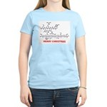 Merry Christmas molecularshirts.com Women's Light