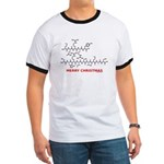 Merry Christmas molecularshirts.com Ringer T