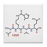 Molecularshirts.com Love molecule Tile Coaster