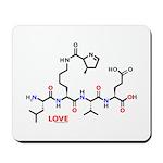 Molecularshirts.com Love molecule Mousepad